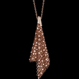 Double pendant chain 750/1000 pink gold